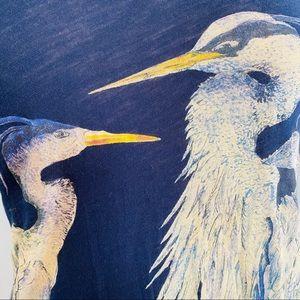 J. Crew Tops - J. CREW Blue Heron Art T-Shirt in Navy